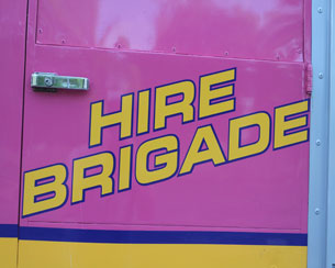 Pink Fire Engine Party Bus Hire Northern Ireland